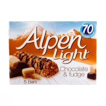 Alpen Light Chocolate & Fudge Cereal Bar (5 Pieces)  105g