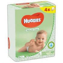 Huggies Natural Care Baby Wipes 4 x 56Pcs
