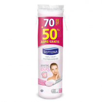 Septona Round Duo Cotton Pads  70+50%