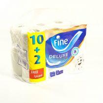 Fine Toilet Roll Deluxe 12 Rolls