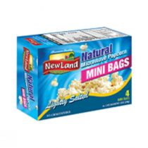 New Land Microwave Popcorn Natural Mini Bags (148 g)