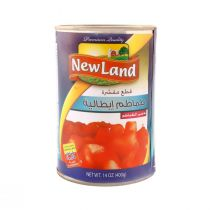 New Land Chopped & Peeled Tomato (400 g)