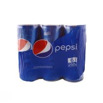 Pepsi Cans (6 cans x 250 ml)