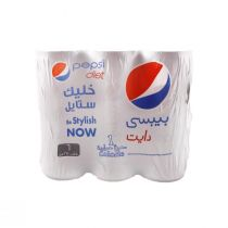 Pepsi Diet Cans (6 cans x 250 ml)