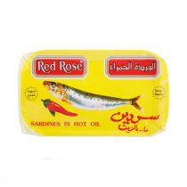 Red Rose Sardines In Hot Oil (120 gr)