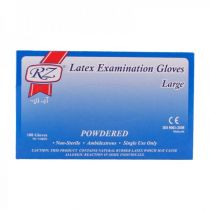 RZ Single-Use Large Latex Gloves - 100 Piece