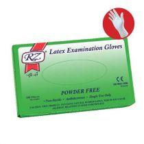RZ Large Latex Gloves Powder Free - 100 Piece