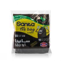 Napco Tie Bags 55 Gallon (18 Pcs)