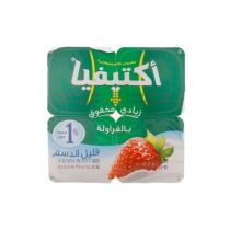Activia Stirred Yoghurt Strawberry Flavor 4 Pcs (125 g each)