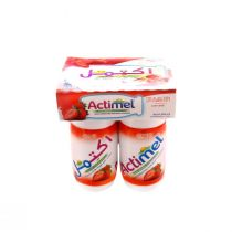 Actimel Strawberry Dairy Drink 4 Pcs (93 ml each)