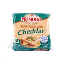 President Cheddar Cheese Slices for Sandwiches (10 slices)