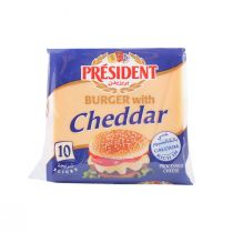 President Cheddar Cheese Slices for Burgers (10 slices)