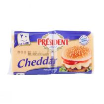 President Cheddar Cheese Slices for Burgers (20 slices)