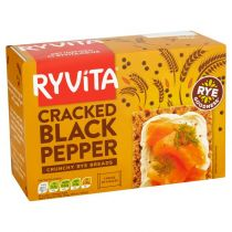 Ryvita Cracked Black Pepper Crisp Bread 5X40g