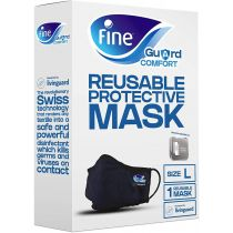 Fine Guard Comfort Adult Face Mask with virus-killing Livinguard Technology,  Large