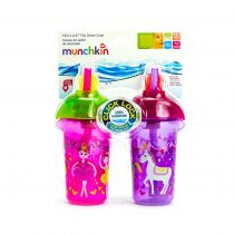 Munchkin Click Lock Decorated Flip Straw Cup 2X266ml