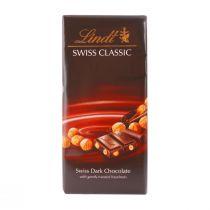Lindt Swiss Dark Chocolate with Hazelnuts (100 g)