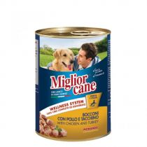 Miglior Cane Chicken & Turkey Chunks 405g