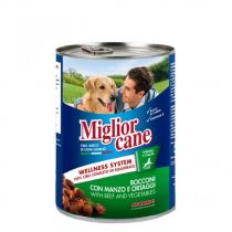 Miglior Cane Beef & Vegetables Chunks 405g
