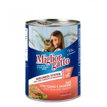 Miglior Gatto Tuna & Salmon Pate 400g