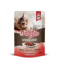 Miglior Gatto Sterilized Beef, Ham  & Vegetables Pouch 85g