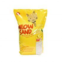 Meow Sand Lemon Scented Clumping Cat Litter 5 Ltr