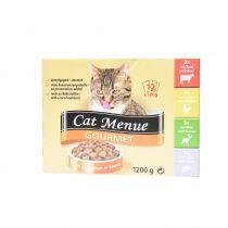 Cat Menue Gourment Cat Food Various Flavors Envelope 12 X 100g