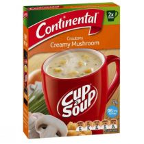 Continental Cup A Soup Croutons Creamy Mushrooms (2 packs x 50 g)