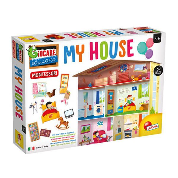 EX72477 - Lisciani - MONTESSORI MAXI MY HOUSE