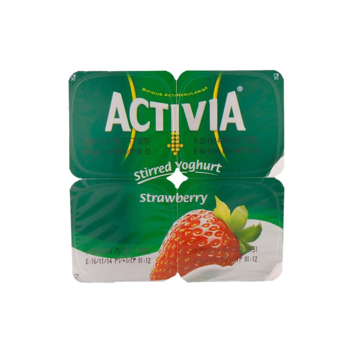 Activia Strawberry 4 Pcs (120 g each)