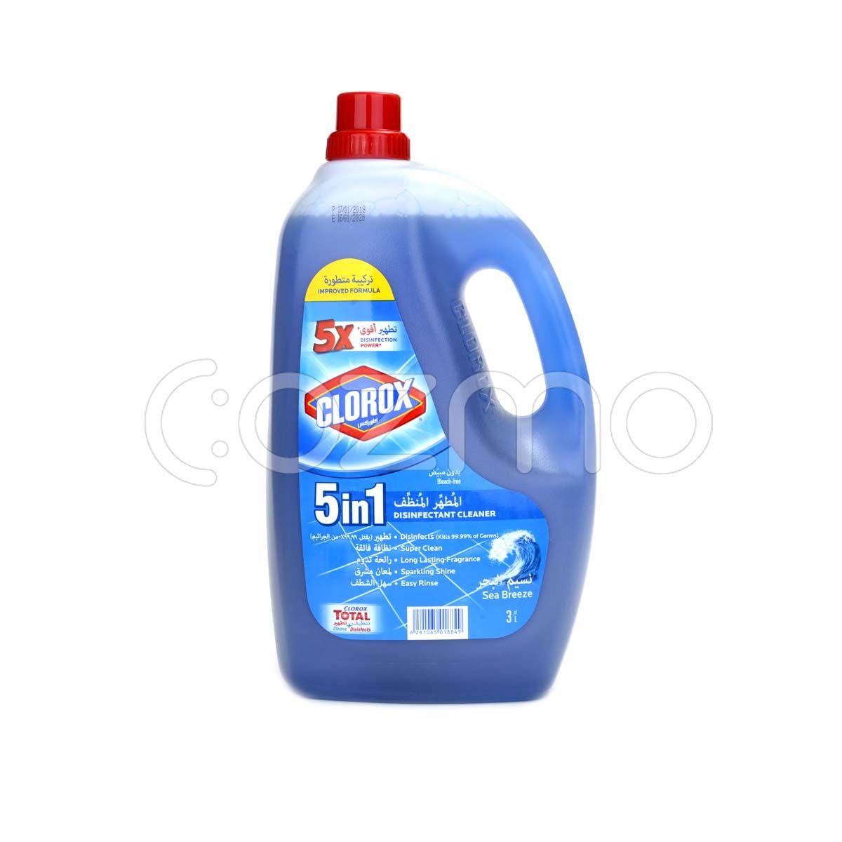 Clorox Liquid Floor Cleaner Disinfectant 5 In 1 Sea Breeze 3 Ltr
